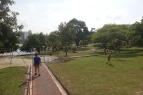 Le parc adjacent est reposant