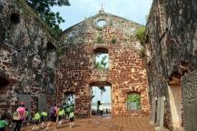 Les ruines de la chapelle St-Paul