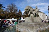 L' une des 1200 fontaines de Zurich