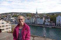 Vue á partir du parc qui fut le lieu de naissance de Zurich