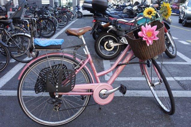 Un vélo bien décoré
