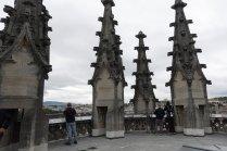 Au haut de la cathédrale après plusieurs centaines de marche