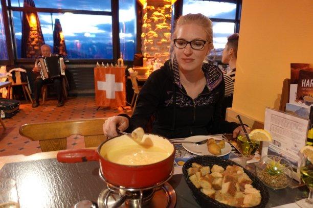 Une vraie fondue suisse
