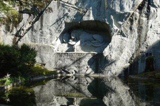 Le célèbre lion de Lucerne