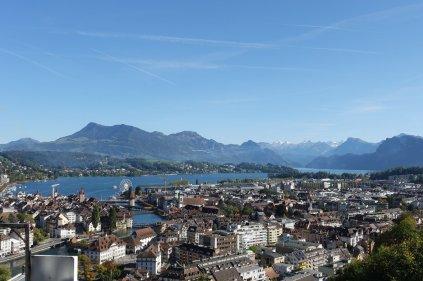 La vue sur la ville à partir du chateau
