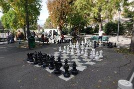 Les jeux du parc des Bastillons . Une activité populaire.