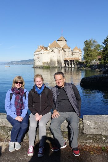 En direction du chateau de Chillon