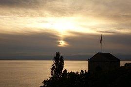 Le soleil se couche sur la plus belle ville de Suisse