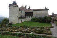 Le chateau de Gruyère et son jardin