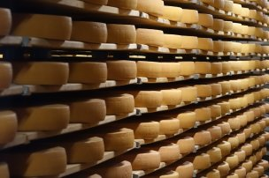 Le lieu de viellissement des meules de fromages