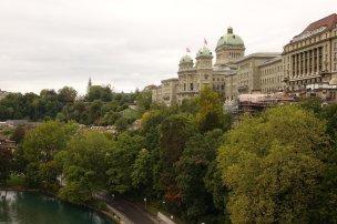 Vue arrière du parlement de Berne