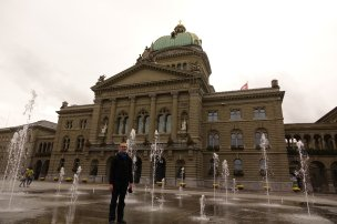 Devant le parlement de Berne