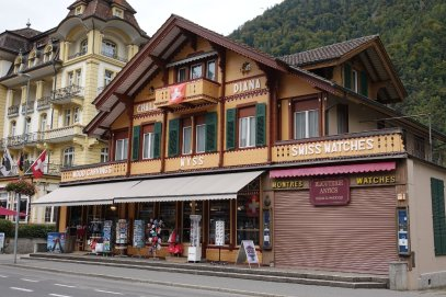 Un magasin typique de Interlaken