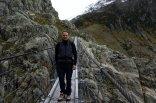 À part le vent, le froid et la hauteur, le pont se traverse bien